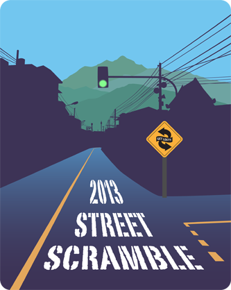 Mission Street Scramble 2013 T shirt design